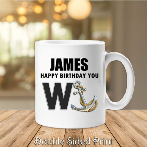 Personalised Anyname Happy Birthday you Wanker Humour Joke Novelty Gift Mug N49